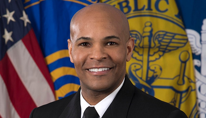 Image with caption: Vice Admiral Jerome M. Adams, U.S. surgeon general