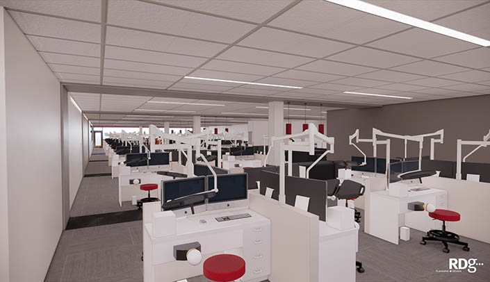Image with caption: The new clinical and virtual simulation laboratory will feature state-of-the-art learning opportunities.