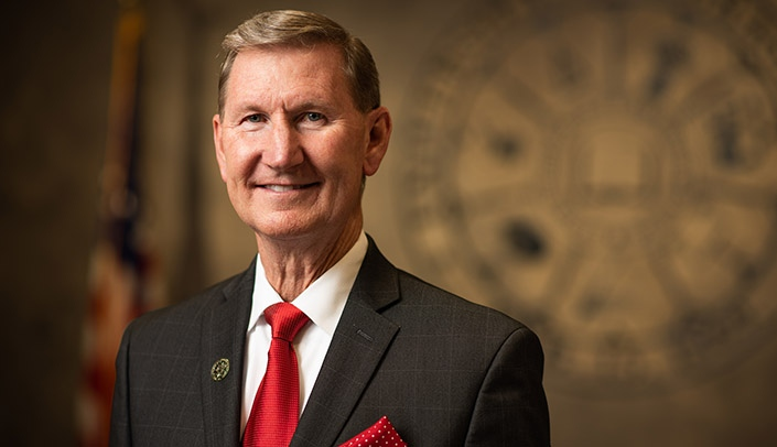 Image with caption: Ted Carter, president of the University of Nebraska