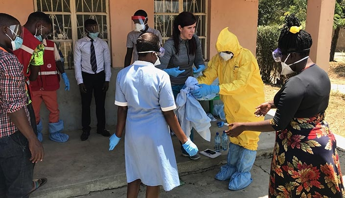 Image with caption: UNMC and Nebraska Medicine have responded to a request from an international agency to send a team of infectious diseases experts to Uganda to help prevent the spread of Ebola.