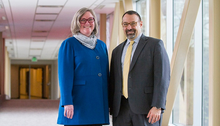 Image with caption: Cathleen Peterson-Layne, M.D., Ph.D., and Steven Lisco, M.D.