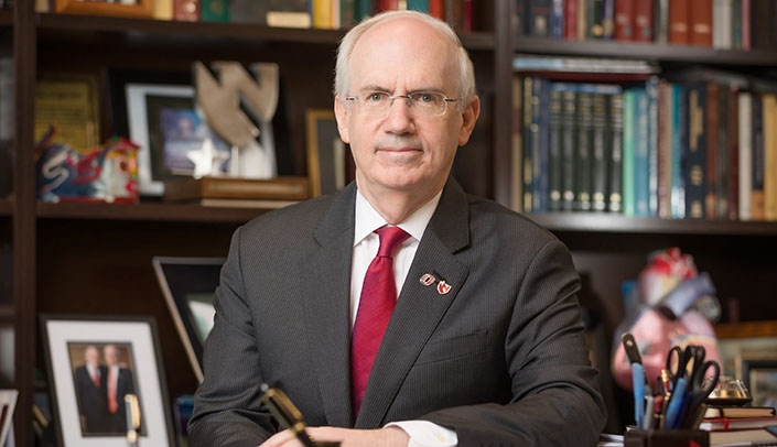 Image with caption: Chancellor Jeffrey P. Gold, MD