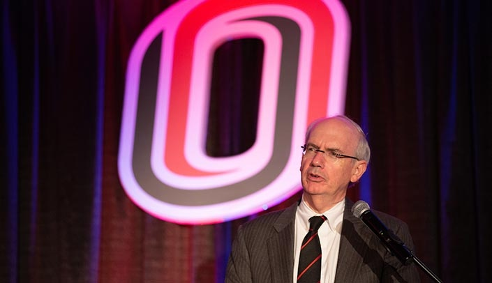 Image with caption: Jeffrey P. Gold, M.D., has been named the priority candidate for the position of UNO chancellor. He has been serving as interim chancellor, as well as chancellor of UNMC, since 2017.