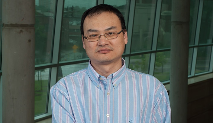 Image with caption: Minglei Guo, Ph.D.