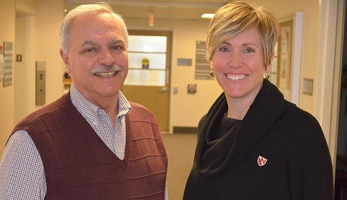 Image with caption: Joe Evans, Ph.D., and Brandy Clarke, Ph.D.