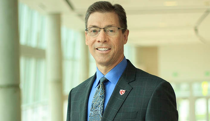 Image with caption: Kyle Meyer, Ph.D., dean of the College of Allied Health Professions