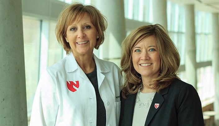Image with caption: From left, Kim Michael and Tanya Custer