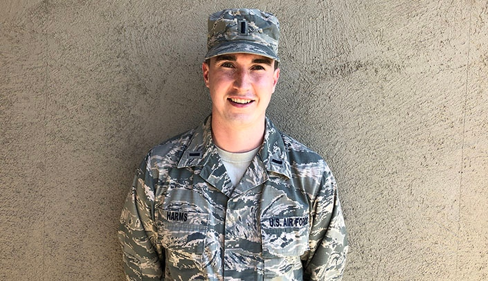 Image with caption: First Lieutenant Nathan Harms