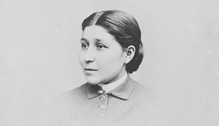 Image with caption: Portrait of Susan La Flesche Picotte, MD, as a medical student at the Woman's Medical College of Pennsylvania, c. 1888