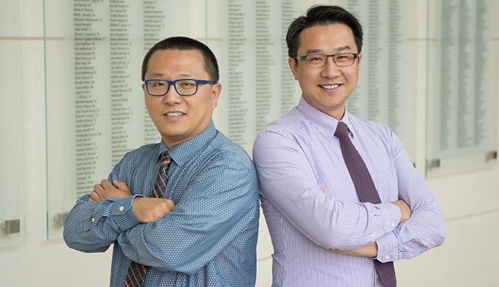 Image with caption: From left, JC Chien, Ph.D., and Joseph Siu, Ph.D.