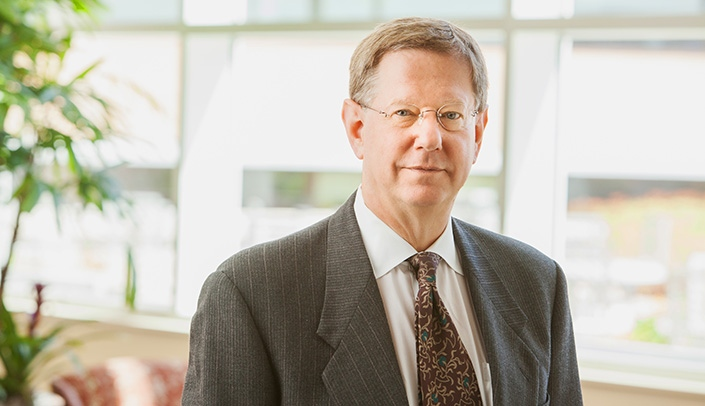 Image with caption: John Windle, M.D., Holland Distinguished Chair of Cardiovascular Science and newly appointed director of the UNMC Center for Intelligent Health Care
