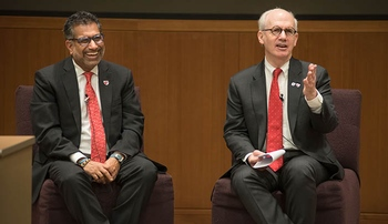 Drs. Gold, Khan talk budget, government shutdown at forum