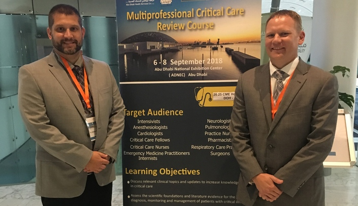 Drs  Fremming, Thompson, lecture in Abu Dhabi | UNMC