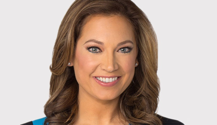 Image with caption: Ginger Zee