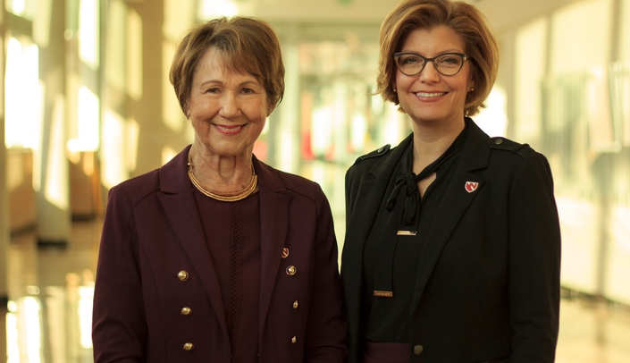 Image with caption: The lead investigators on the Spry Belt study are Nancy Waltman, Ph.D. (left) and Laura Bilek, Ph.D.